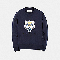 COACH F33786 Wolf Graphic Sweatshirt MIDNIGHT