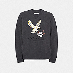 COACH F33787 Eagle Graphic Sweatshirt CHARCOAL