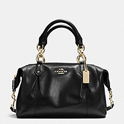 COACH F33806 Colette Satchel In Leather LIGHT GOLD/BLACK
