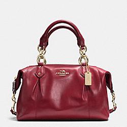 COACH F33806 Colette Leather Satchel IM/CRIMSON