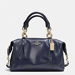 COACH F33806 Colette Satchel In Leather LIGHT GOLD/MIDNIGHT