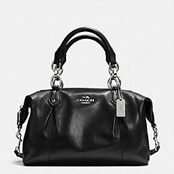 COACH F33806 Colette Leather Satchel SILVER/BLACK