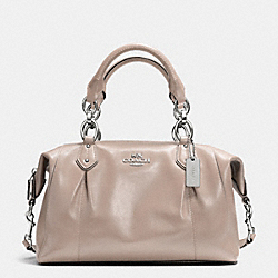 COACH F33806 Colette Satchel In Leather SILVER/GREY BIRCH