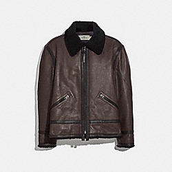 COACH F33819 Aviator Jacket BARK
