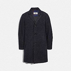 COACH F33822 - LONG WOOL TOPCOAT CHARCOAL