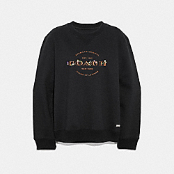 COACH F33863 - COACH SWEATSHIRT BLACK