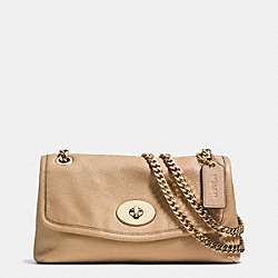 COACH F33878 - CHAIN CROSSBODY IN PEBBLE LEATHER LIGHT GOLD/NUDE