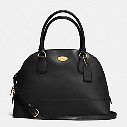 CORA DOMED SATCHEL IN CROSSGRAIN LEATHER - f33909 -  LIGHT GOLD/BLACK
