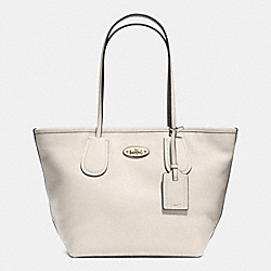 COACH F33915 - COACH TAXI ZIP TOP TOTE IN LEATHER  LIGHT GOLD/CHALK