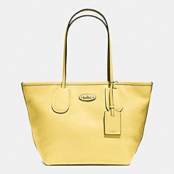 COACH F33915 - COACH TAXI ZIP TOP TOTE IN LEATHER LIGHT GOLD/PALE YELLOW
