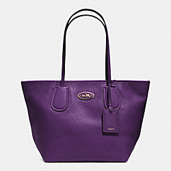 COACH F33915 Coach Taxi Zip Top Tote In Leather  LIGHT GOLD/VIOLET