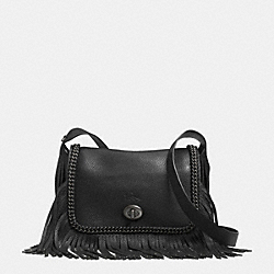 COACH F33926 - DAKOTAH FRINGE FLAP CROSSBODY IN WHIPLASH LEATHER BNBLK