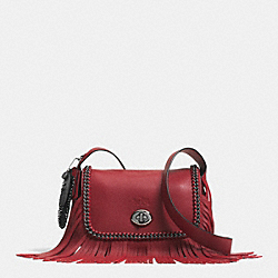 COACH F33939 Dakotah Small Fringe Flap Crossbody In Whiplash Leather DKDE3
