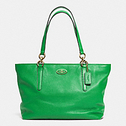 COACH F33961 - ELLIS TOTE IN LEATHER LIGRN