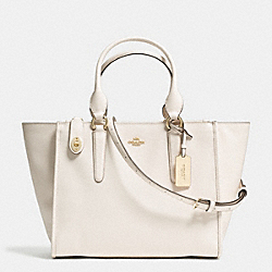 COACH F33995 - CROSBY CARRYALL IN CROSSGRAIN LEATHER LIGHT GOLD/CHALK
