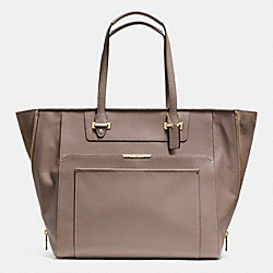 COACH F34020 - TAYLOR LEATHER WITH SUEDE LARGE FASHION TOTE  IM/FLIGHT GOLDNT