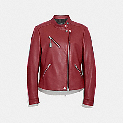 COACH F34021 Uptown Racer Jacket CHERRY