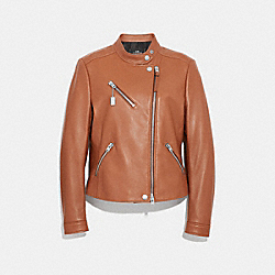 UPTOWN RACER JACKET - F34021 - SADDLE