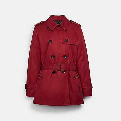 COACH F34022 SHORT TRENCH RUBY