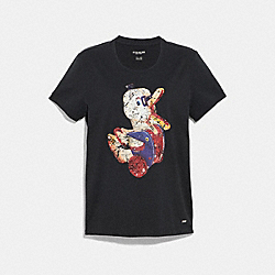 COACH F34026 Fisher-price T-shirt BLACK