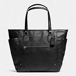 COACH F34039 - MICKIE TOTE IN GRAIN LEATHER ANTIQUE NICKEL/BLACK