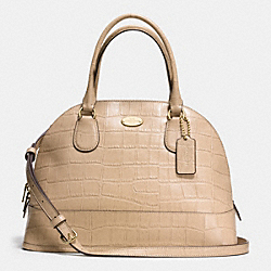 COACH F34053 - CORA DOMED SATCHEL IN EMBOSSED CROCO LEATHER  LIGHT GOLD/NUDE