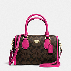 COACH F34084 Mini Bennett Satchel In Signature IME9T