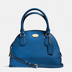 COACH MINI CORA DOMED SATCHEL IN CROSSGRAIN LEATHER - IMDEN - F34090