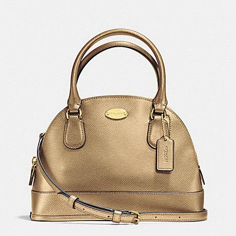 f5eac839d5 ... france coach mini cora domed satchel in crossgrain leather imitation  gold gold f34090 b0b13 d2a5b