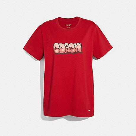 COACH f34115 HIP-HOP T-SHIRT RED