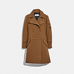 COACH F34123 Naval Coat DARK CAMEL