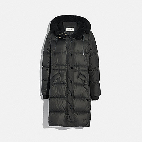 6055d894f COACH F34128 - LONG PUFFER - BLACK | COACH WOMEN