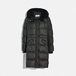 COACH F34128 Long Puffer BLACK