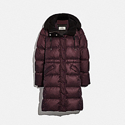 COACH F34128 Long Puffer BORDEAUX