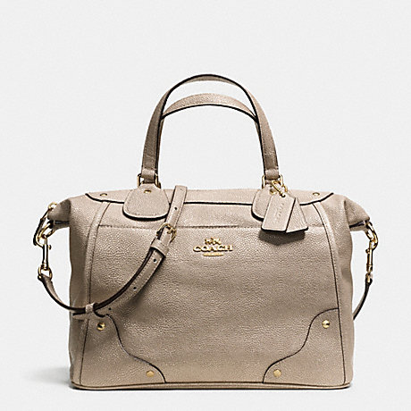COACH F34143 MICKIE SATCHEL IN CAVIAR GRAIN LEATHER LIGHT-GOLD/GOLD
