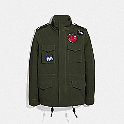 DISNEY X COACH SKULL M65 JACKET - F34200 - MILITARY