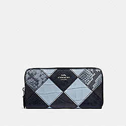 COACH F34308 Accordion Zip Wallet MIDNIGHT MULTI/SILVER