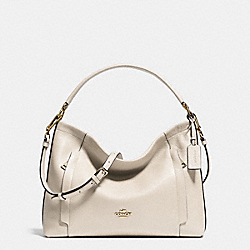 COACH F34312 Scout Hobo In Polished Pebble Leather LIGHT GOLD/CHALK