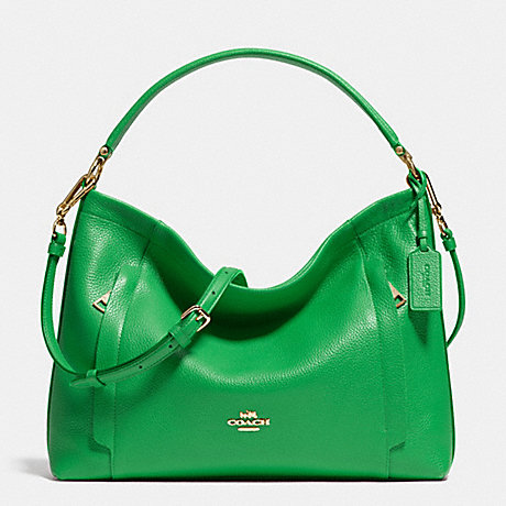 COACH f34312 SCOUT HOBO IN PEBBLE LEATHER LIGRN