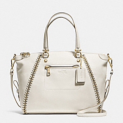 PRAIRIE SATCHEL IN WHIPLASH LEATHER - f34339 - CHALK