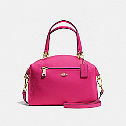 COACH F34340 - PRAIRIE SATCHEL CERISE/LIGHT GOLD