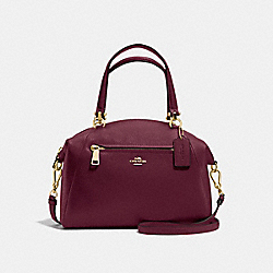 COACH F34340 - PRAIRIE SATCHEL BURGUNDY/LIGHT GOLD
