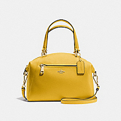 COACH F34340 - PRAIRIE SATCHEL FLAX/LIGHT GOLD