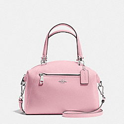COACH F34340 Prairie Satchel In Pebble Leather SILVER/PETAL