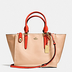 COACH F34351 - CROSBY CARRYALL IN TWO TONE LEATHER LIGHT GOLD/APRICOT/CORAL