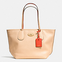 COACH F34355 - COACH TAXI ZIP TOP TOTE IN TWO TONE COLORBLOCK LEATHER LIDTI