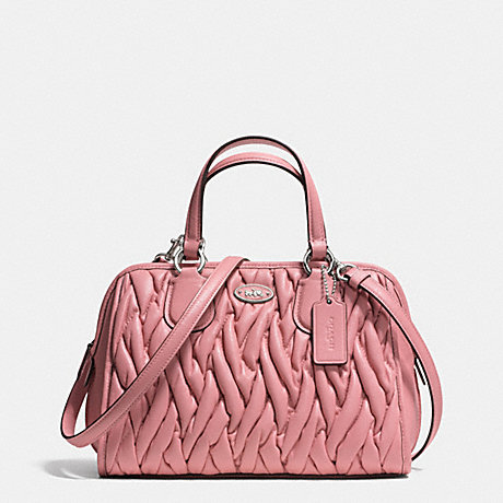 COACH F34370 MINI NOLITA SATCHEL IN GATHERED LEATHER SILVER/PINK