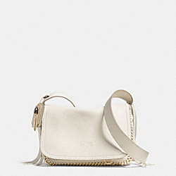 COACH F34396 Dakotah Fringe Crossbody In Whiplash Leather LIGHT GOLD/CHALK