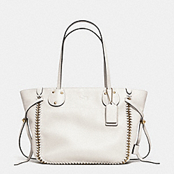 COACH F34398 Tatum Tote In Whiplash Leather LIGHT GOLD/CHALK