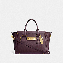 COACH F34408 - COACH SWAGGER GD/OXBLOOD